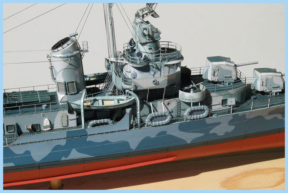 USS Fletcher, USS Leutze, USS Black, USS Caperton   Premium Paper